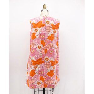 Vintage Dresses - Vintage Women's Hawaiian Swing Dress A-line Mini